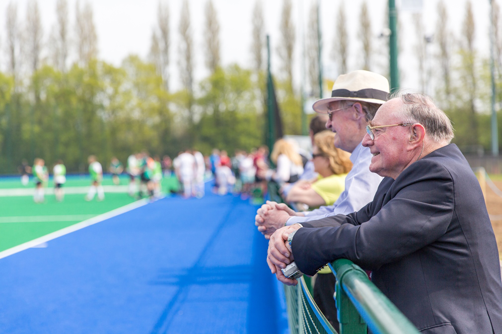 Alumnus Gordon Clark enjoys the match