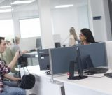 Student using the Student Service Centre