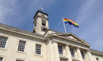 Rainbow flag IDAHOBIT May 2015