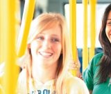 Three Undergraduate Students on The University Park Hopper Bus