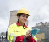 Female undergraduate student working at E-On, Nottingham