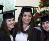 Graduates Smiling at the Winter Graduation Ceremony in the East Midlands Conference Centre University Park