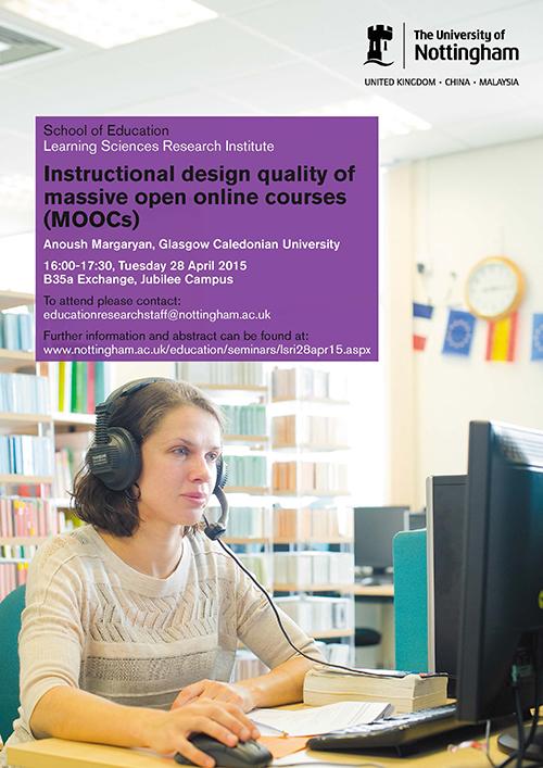 Instructional Design Quality Of Massive Open Online Courses Moocs