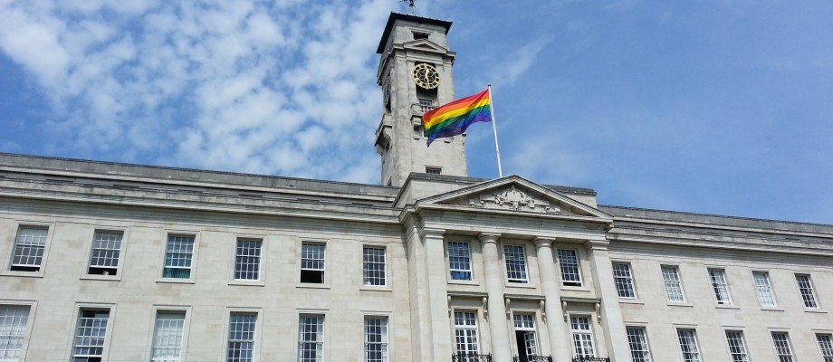 Image result for rainbow flag uk university