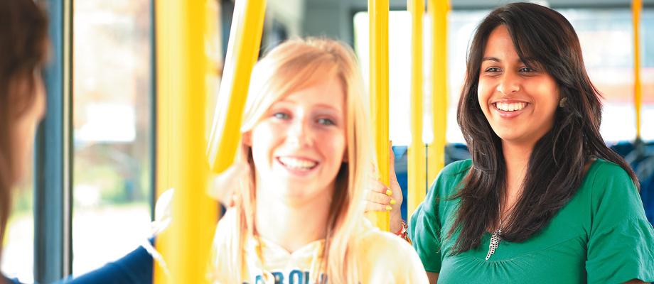 Three Undergraduate Students on The University Park Hopper Bus