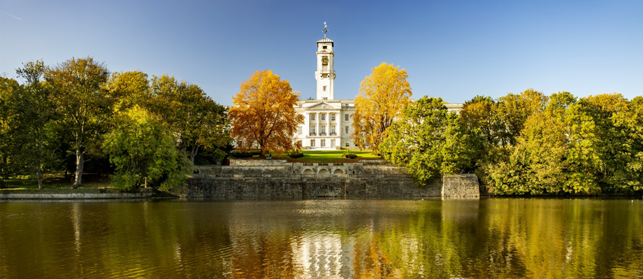 Trent building from Highfields Lake