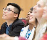 Undergraduate students in a lecture, Keighton Auditorium, University Park